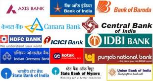 Different bank branches in Vrindavan