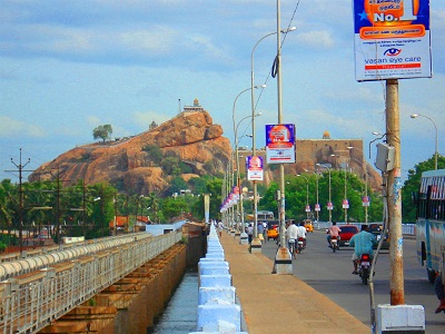 Rock Fort Temple from Kaveri Bridge