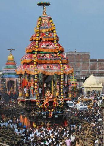 Car Festival in Shevapet Mariamman Temple