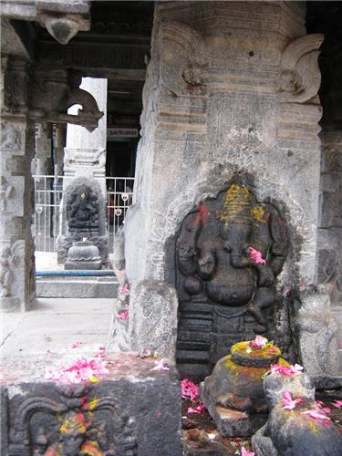 Different idols inside the Sugavaneswarar Temple, Salem