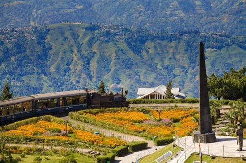 Famous Batasia Loop Garden in Darjeeling