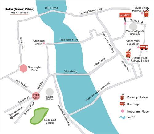 Vivek Vihar Map