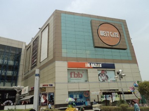 Outside view of West Gate Mall Rajouri Garden Delhi