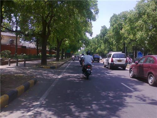 Asok Road in Delhi