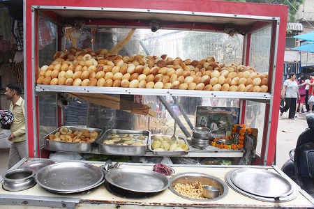 Golgappa under Glass Case