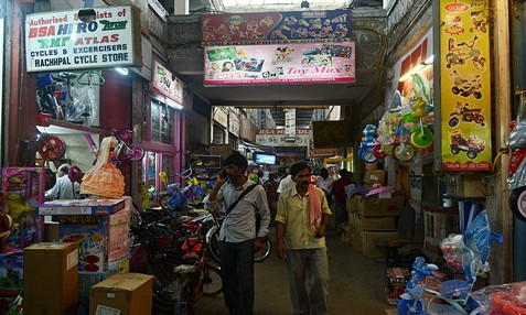 Jhandewalan Cycle Market in Delhi