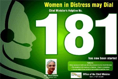 Delhi Women Helpline Numbers