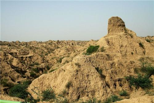 The unique topography of Dholpur marked by deep ravines