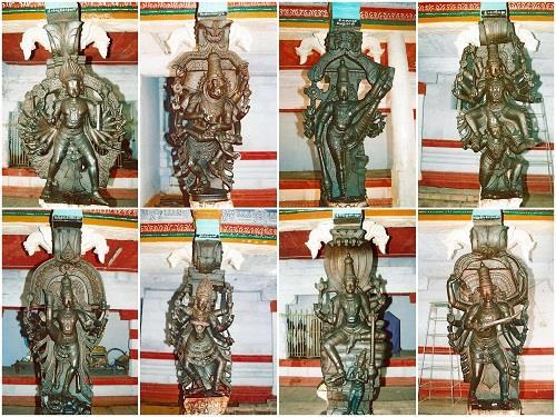 Sculptures in Thadikombu Arulmigu Soundarraja Perumal Temple