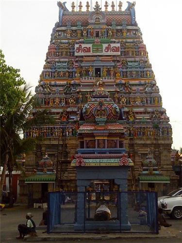 Main Tower of Sri Sanghameshwarar Temple in Bhavani, Erode