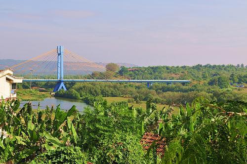 Cable Bridge in Aldona