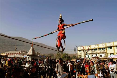 At the Bhavnath Fair Ground