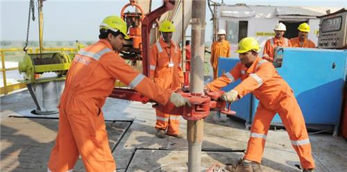 At ONGC Oil Field
