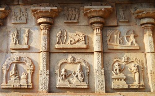 Hazara Rama Carvings, Hampi