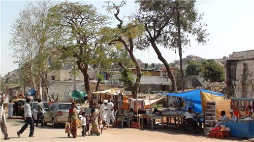 Hampi Bazaar in Hampi