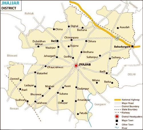 Geography of Jhajjar