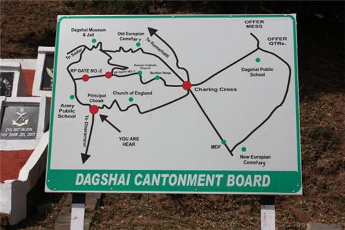 Map of Cantonment Board in Dagshai