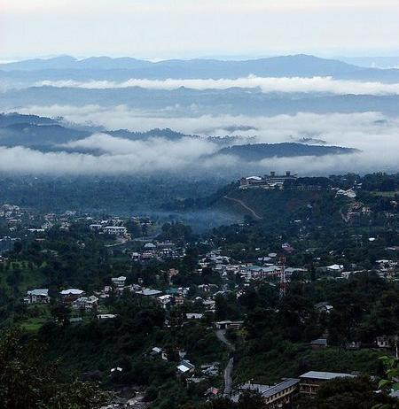 A Panoramic View of Kangra