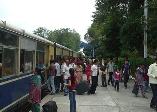 At Kangra Railway Station