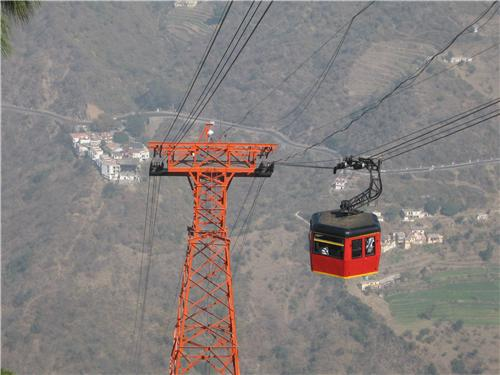 Cable Cars used to reach Timber Trail Heights