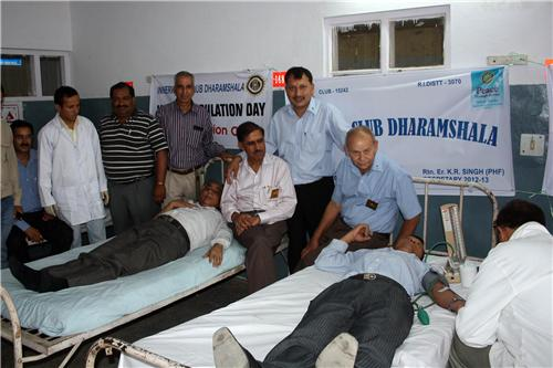 Blood Donation at Dharamsala