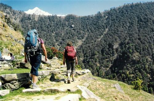 Trekkers at Dharamsala