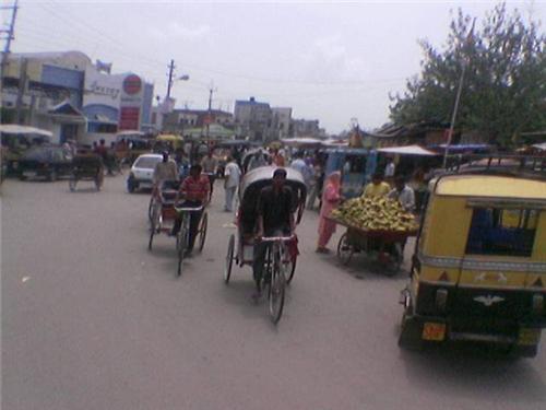 Railway station road in Hoshiarpur