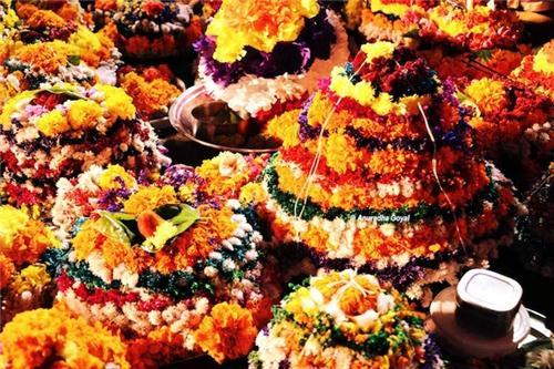 Flowers in Bathukamma Festival