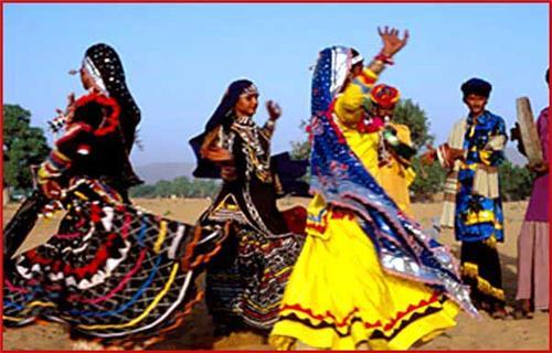 Kalbelia Dancers at Sekhawati Festival