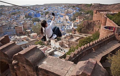 Flying fox in Jodhpur