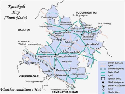 Geography of Karaikudi
