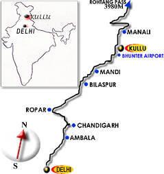 Delhi to Kullu by Road