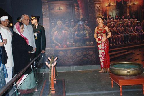 Interior of Shri Krishna Museum in Kurukshetra