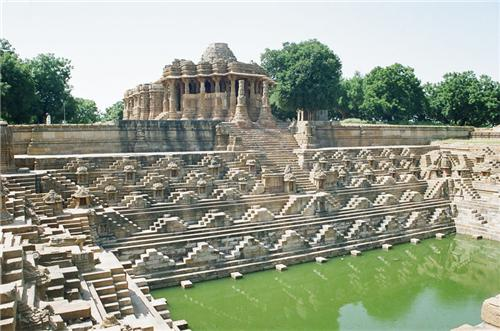 Famous Kund located in the arena of Modhera Sun Temple in Mehsana