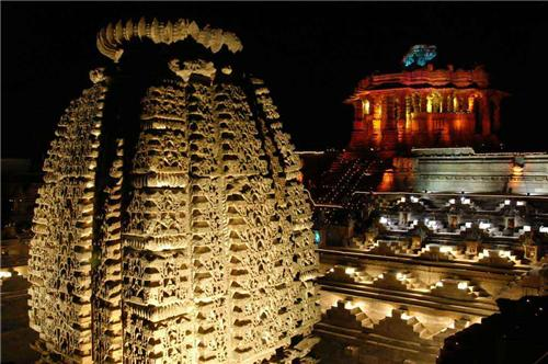 Awesome view during the Modhera Dance festival in Mehsana