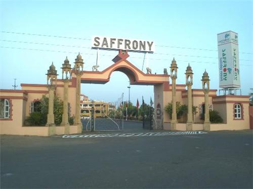 The famous Saffrony Holiday Resort in Mehsana