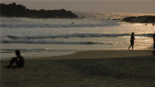 View at Famous Beach in Malappuram at dawn