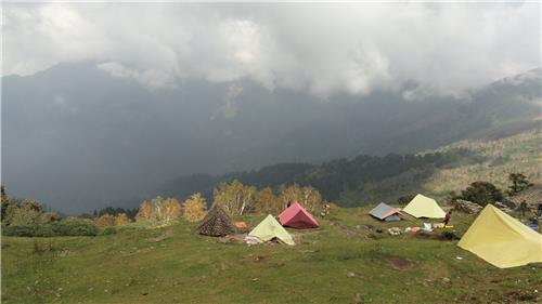 Camping in The Meadows of Bhrigu Lake trek in Manali