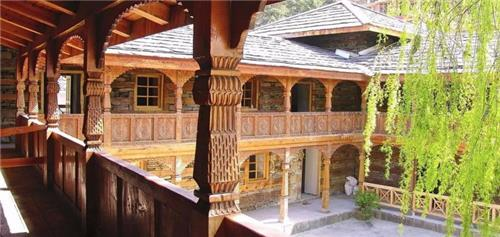 Beautiful Architecture of Castle at Naggar in Manali