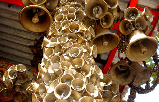 Bells at Maa Sharvari Temple