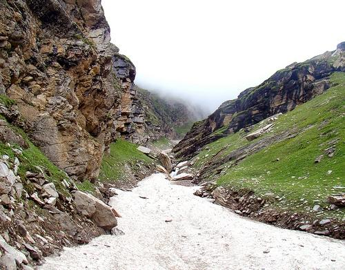 Rohtang Pass after winters