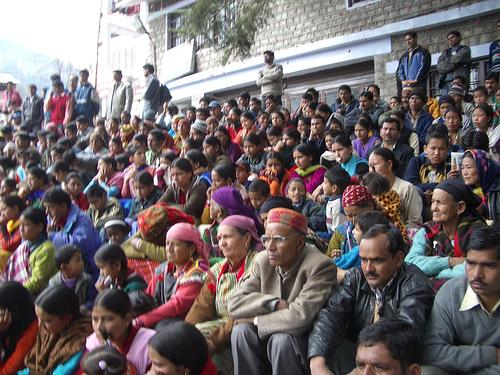 Crowd at the Winter Carnival in Manali