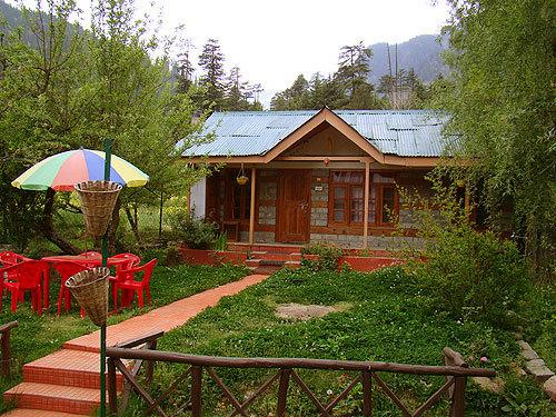 Log Hut Area in Manali