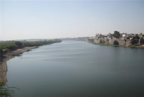 river Machchu Flowing Quietly Through Morbi District