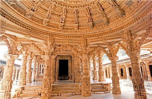 Fine Architecture at Famous Dilwara Temple in Mount Abu