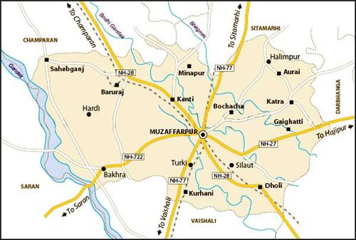 Geographical features of Muzaffarpur