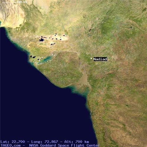 Nadiad Map