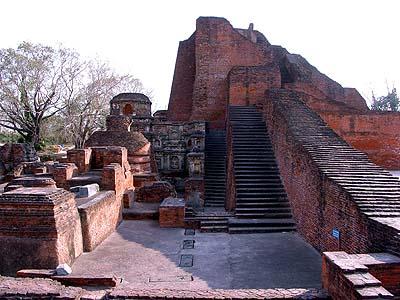 Archelogical excavations of Nalanda ruins