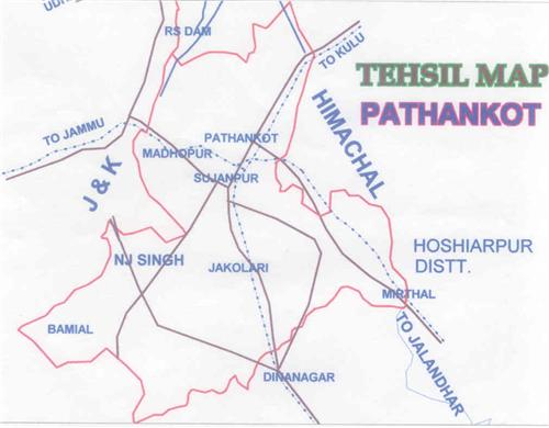 Tehsils in Pathankot District