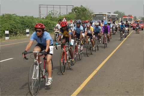 Cycling Along Gandhi Maidan